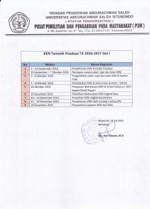 Jadwal dan Persyaratan Pendaftaran KKN Tematik Posdaya TA 2016/2017 Gel I